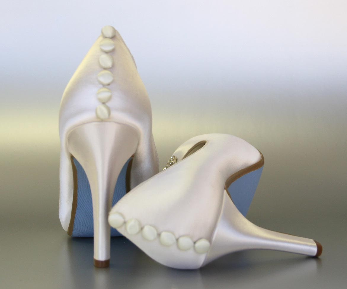 Bridal Shoes Dsw: Wedding Shoes Ivory Wedding Shoes Shoes With Buttons