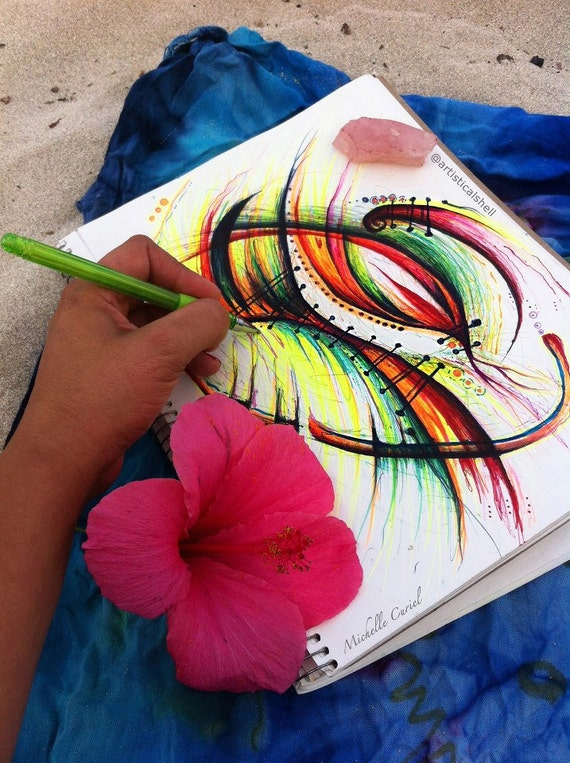 Beach Day Doodle - Original ART 8x11