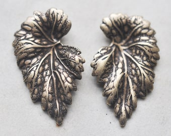 Left and Right Brass Leaves, Brass Ox