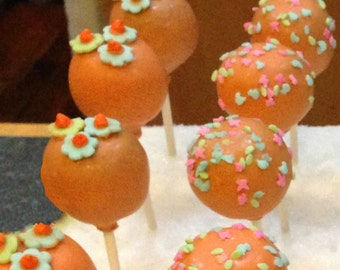 CAKE POPS,  All Colors Available, Party Favors, Bridal Shower Favors, Wedding Favors