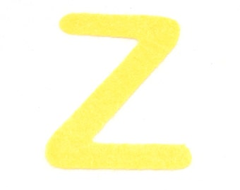 Z -Felt alphabetic letters 2-4 inch, iron on, choose from 28 colors