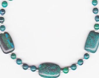 Handmade Jewelry, Beaded Anklet, Jasper Anklet, Green Blue Anklet, Sapphire Anklet Bracelet, Australian Jasper Beaded Anklet Bracelet