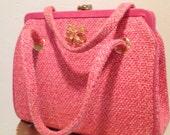 Vintage Pink Handbag JR of Florida with Napier pin