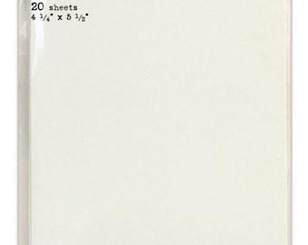 "Tim Holtz Distress Watercolor Cardstock 4 1/4"" X 5 1/2"""