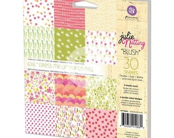 "Prima - Julie Nutting Double-Sided Paper Pad ""Blush ""6""X6"" 30/Sheets - ""Dress Me Up"""