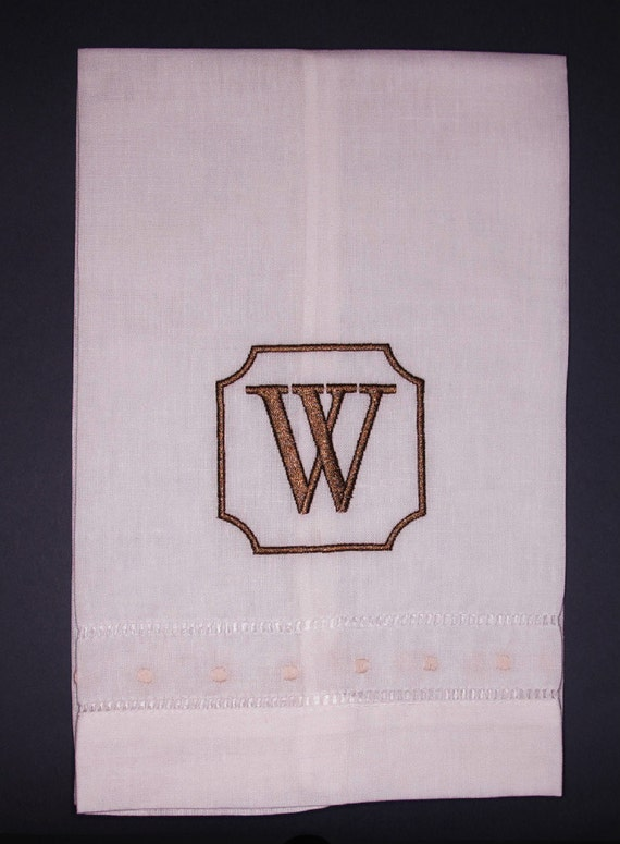 Personalized Linen Towel