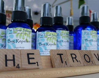 Handmade Essential Oil Bug Repellent - great smelling bug spray. Full & travel size bottles. Body Safe, smells great, and works well!
