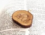 Monogrammed Wood Slice Pendant