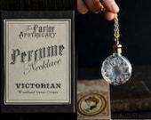 Perfume Bottle Necklace - Victorian Potion Amulet - Choose your scent - Flower 7ml