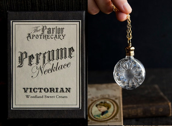 Perfume Bottle Necklace - Victorian Potion Amulet - Choose your scent - Flower 7ml