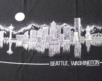 Vintage 1990 Seattle Washington T-Shirt