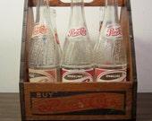 Vintage Wooden Pepsi Bottle Carrier With Six Bottles reserved for Barsky02