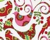 Pretty Bird in Santa Christmas by Pillow & Maxfield Michael Miller fabric 1 yard