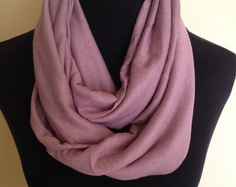 New Stretch Knit Infinity Scarf Purple/Pink Color
