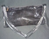 Large Leather MESH Shoulder Bag Black