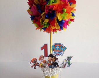 Paw Patrol Inspired birthday party centerpiece, decoration, centerpieces, decor, disney, rescue pups