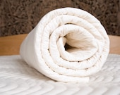 Quilted 100% Natural Cotton Mattress Pad