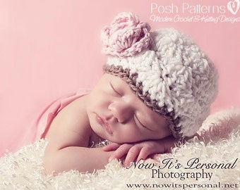 Crochet PATTERN - Crochet Shell Hat Pattern - Crochet Hat Pattern - Crochet Pattern Baby - Includes 5 Sizes Newborn to Adult - PDF 165