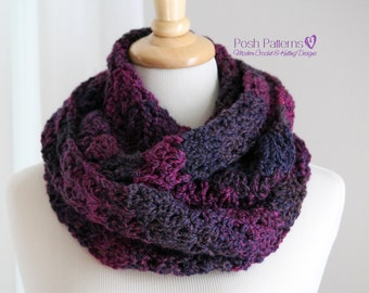 Crochet PATTERN - Crochet Scarf Pattern - Crochet Cowl Pattern - Infinity Scarf Crochet Pattern - Crochet Patterns for Women - PDF 101