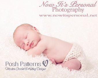 Knitting PATTERN - Baby Knitting Pattern - Knit Diaper Cover Pattern - Button Up Soaker Pattern - Newborn - Photo Prop Pattern - PDF 215