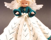 PDF Pattern. Knit Angel Doll Pattern - ANGEL Mary Alice #2 In Millennium Series - Knitting Bed Doll Pattern - Full Knit Lace Skirt.