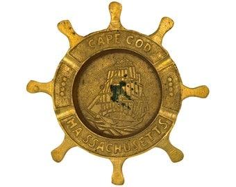 Vintage Brass Cape Cod Ashtray