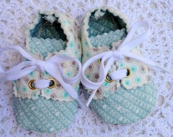 Blue and Ivory Baby Boy Oxfords