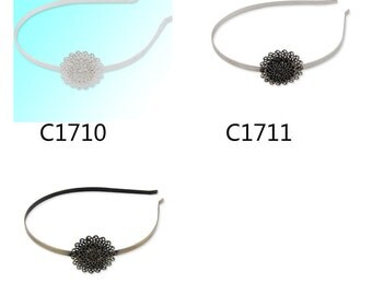 20% off-10PCS 34MM Round Brass Headband,headscarf