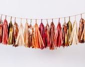 Fall Leaves Tassel Garland (browns, reds, copper)