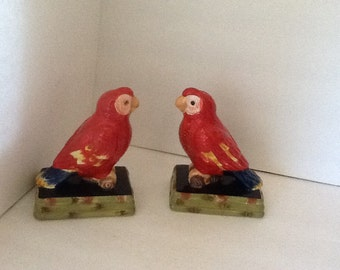 Salt, Pepper Shakers, Parrots, Vintage