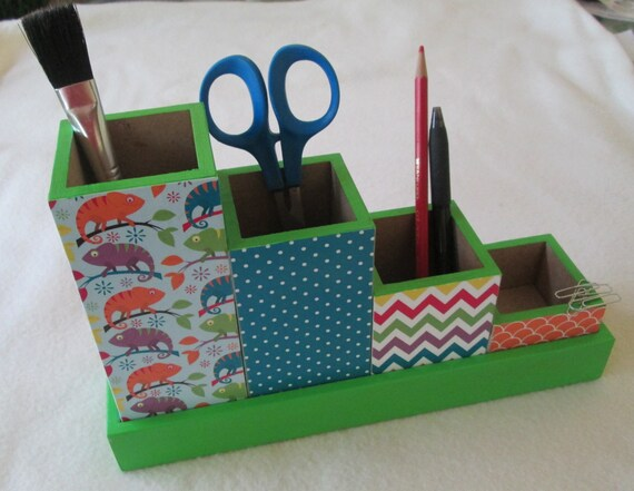 Desk set desk organizer pencil cup holder set by msw2011 - Desk set organizer ...