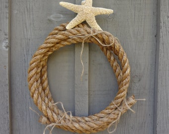 NAUtICAL NATuRAL FiBER ROpE HOmE DEcOR TAbLE DeCOR WREAtH SO MANy UseS