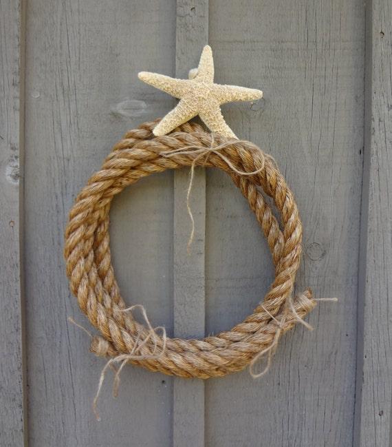 Nautical Rope Decor Items: NAUtICAL NATuRAL FiBER ROpE HOmE DEcOR TAbLE DeCOR WREAtH SO