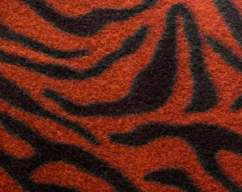 Conimon Tiger Animal Print Fleece Fabric by the yard