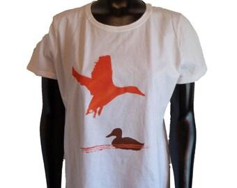 Duck screen printed Ladies tee shirt