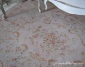 L 18th Century Soft Green/Beige Fringed Dollhouse Rug