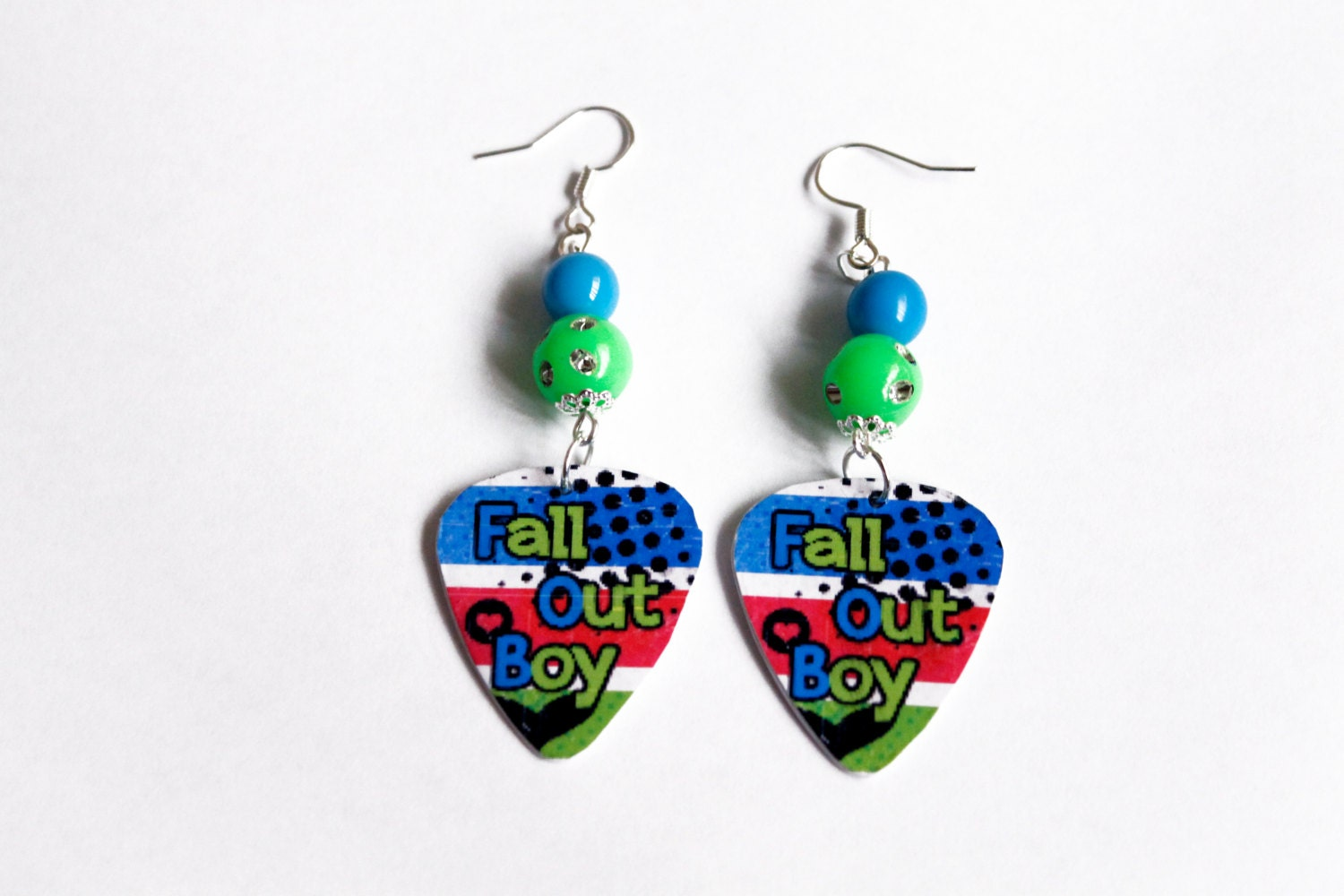 fall out boy guitar earrings by hellcatboutique on etsy