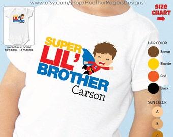 Superhero Big Brother Shirt - Big Brother Superhero Shirt or bodysuit
