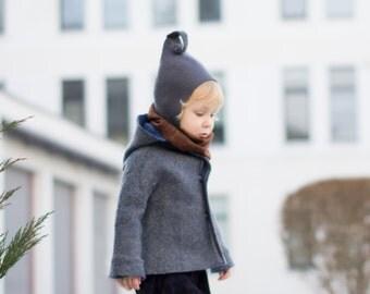 Felt elf hat - baby hat - toddler hat - elf hat - baby photography Prop - felted hat - wool hat