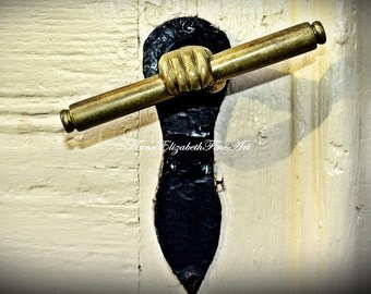 Moravian Print- Door Handle Art,Door Art, Door Handle Decor,Surreal,Moody, Wrought Iron, Rustic Art,Old Door,Hand Shaped,Farmhouse Wall Art