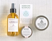 Winter Essentials Set. Body and Skin Care. Body Oil. Healing Balm. Lip Butter. Vegan. Handcrafted. 100% Natural.