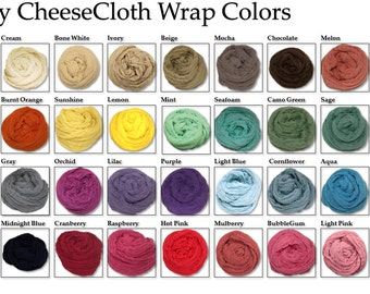 "SALE!! Small Cheesecloth wrap 34 color choices 36"" X 36"" (3ft X 3ft) by Posey Pillow"