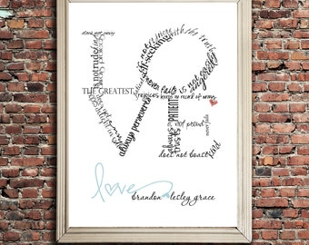 LOVE is ... Typography Art, digital file