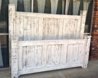 solid wood bed framebed framebedroom furntiturereclaimed wood bedrustic bedshabby chic furniturebeach furnitureplatform bedheadboard