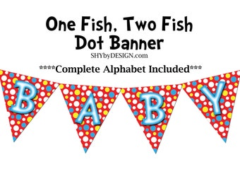 One Fish, Two Fish Baby Shower Kit - PRINTABLE