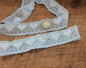 Bridal Garter - Garter UK -  Simply 'Love' Chic Something Blue Garter - The Original Simply Chic Garter - Special Offer