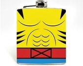 Groomsmen Superhero Yellow Animal Hip Flask Hip Flask 6oz Flask Mens Flask Superhero Movie Favor Groomsmen