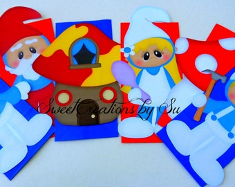 SALE Inspired Smurf Land Party Favor Bags Full body