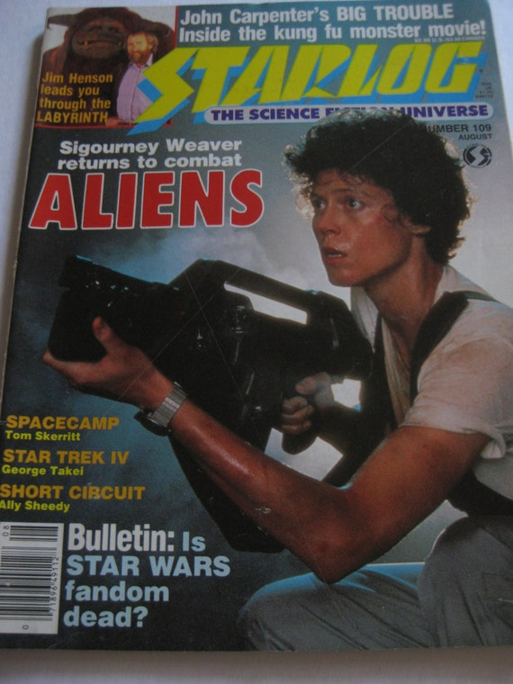 Vintage Skylog Magazine featuring LABYRINTH and SCIFI Labyrinth 1986 Characters