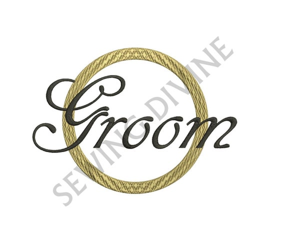 Groom machine embroidery design wedding ring by